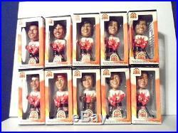 10pc VINTAGE 1972 TEAM CANADA Hand Painted BOBBLE HEAD Set NHL Hockey CANADIANS