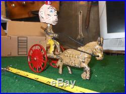1910 Vintage Hubley Cast Iron Rubber Neck Nice Original Paint Bobble Head Kenton