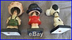 1959 Lego Vintage Peanuts Bobble Heads Complete Set Of All Six Schulz Japan