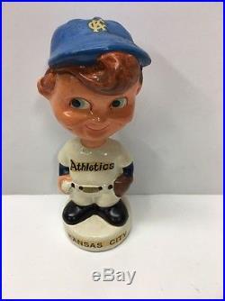 1960 MINI KC Kansas City Athletics A's Nodder Bobblehead Vintage Baseball