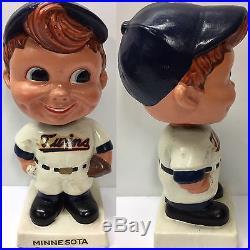 1960 Minnesota Twins White Base Nodder Bobblehead Vintage Baseball Bobble