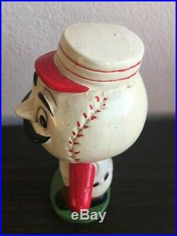 1960 Vintage Bobblehead Cincinnati Reds Mascot Green Base Nodder Extremely Rare