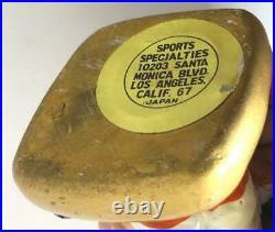 1960's BALTIMORE ORIOLES VINTAGE MASCOT BIRD HEAD GOLD BASE NODDER BOBBLEHEAD