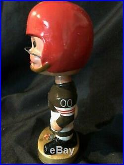 1960's Cleveland Browns NFL Gold Base Bobblehead Nodder Vintage MINT! With box