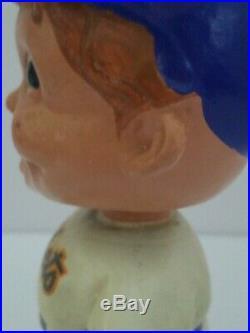 1960's New York Mets Vintage Bobble Head Nodder White Square Base RARE