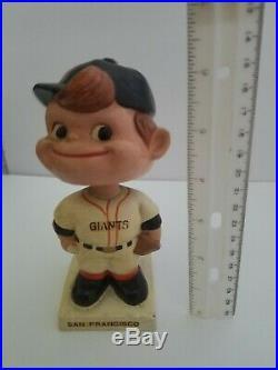 1960's San Francisco Giants Vintage Bobblehead Nodder Square Base RARE