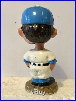 1960's Vintage Bobblehead Kansas City Royals Gold Base Nodder Flat Cap HTF