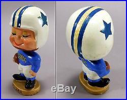 1960's Vintage Dallas Cowboys My Hero Kissing Boy Bobblehead Nodder Rare