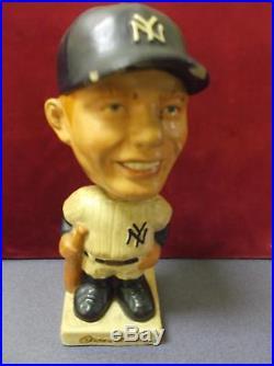 1960's Vintage Japan Mickey Mantle New York Yankees Bobble Head square Base