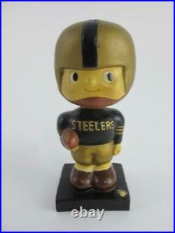 1960's Vintage PITTSBURGH STEELERS Square Base Football RARE Bobblehead Noddler