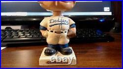 1960s Los Angeles Dodgers Nodder Bobblehead Vintage White Square Base