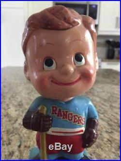 1960s New York Rangers Bobblehead Vintage Papier Mache Nodder