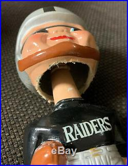 1960s Oakland Raiders Merger Series Vintage Bobblehead Nodder Football Nice