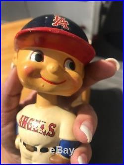 1960s Rare LA ANGELS Nodder Bobble Head Doll PITCHER Vintage CALIFORNIA CA MLB