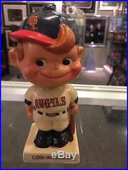 1961-63 Los Angeles Angels Rare Vintage Bobble Bobbing Head Doll Ex Japan