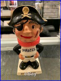 1961-63 Pittsburgh Pirates Rare White Base Vintage Bobble Head Doll Nm