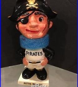 1961-63 Pittsburgh Pirates Vintage White Base Bobble Bobbing Head Doll Mint