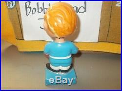 1962 6.5 Inch Toronto Maple Leafs Bobblehead Nodder Square Base Vintage 1960s Rd