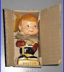 1962 Boston Bruins Mini Nodder Bobblehead Vintage Hockey NHL Neck Collar IOB