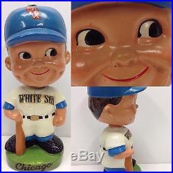 1962 Chicago White Sox Green Base Nodder Bobblehead Vintage Baseball Bobble