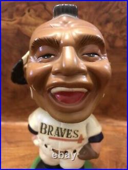 1962 Vintage Milwaukee BRAVES Indian Bobblehead Atlanta AARON Baseball AUTHENTIC