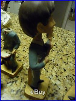 1964 The Beatles Bobblehead figure Paul Mccartney John Lennon set vintage nodder