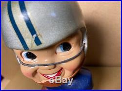 1967 DETROIT LIONS TEAM Football Bobble Head Nodder 60s vtg Figure Statue with BOX
