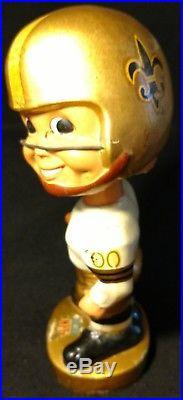 1967 RARE VINTAGE New Orleans Saints NFL BOBBLEHEAD NODDER Original, from Japan