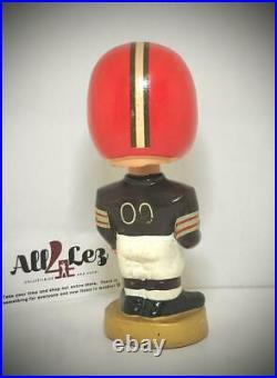1968 Cleveland Browns Vintage Boy Gold Base Nodder Bobblehead NFL Merger Series
