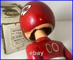 1968 KANSAS CITY CHIEFS VINTAGE BOY NODDER BOBBLEHEAD NFL MERGER SERIES with BOX