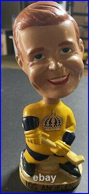 1968 Vintage Los Angeles Kings bobblehead nodder Gordy Howe Face gold base