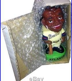 1983 Atlanta Braves Vintage Bobble Head Doll Figure Green Base MINT IN BOX