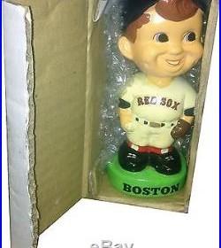 1983 Boston Red Sox Vintage Bobble Head Doll Figure Green Base Ball MINT IN BOX