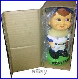 1983 Seattle Mariners Vintage Bobble Head Doll Figure Green Base MINT IN BOX