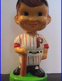 1983 Taiwan Vintage Philadelphia Phillies Bobblehead With Bat