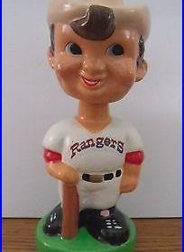 1983 Taiwan Vintage Texas Rangers Bobble Head With Original Box