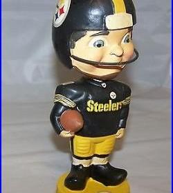 2013 Pittsburgh Steelers Vintage Retro Look Bobblehead Doll