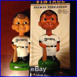 2014 Milwaukee Brewers Vintage Bobblehead Bob Bullhead Bruer SGA 6/15/14