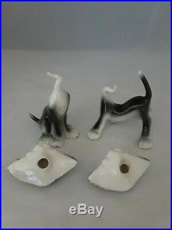 2 VTG'50's FREEMAN MCFARLIN Bobblehead Nodder CALIFORNIA POTTERY CAT FIGURINES