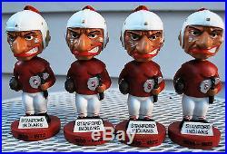 4 NOS Vintage Stanford University Indian Bobble Noggins Old Mascot Rose Bowl