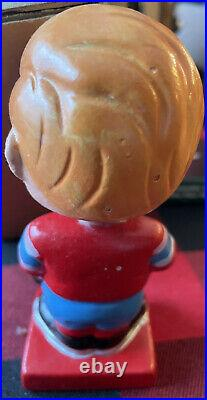 60s Montreal Canadiens Bobble Head Bobbin Nodder Doll Mascot Vtg Hockey MIB COA