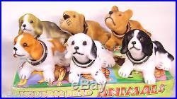 6 Classic Vintage-style Dog Bobble Nodder Head Bobblehead Puppy Figures 6 long
