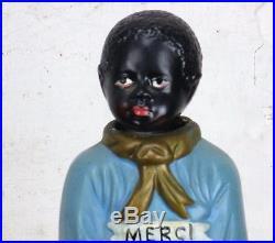 Antique Vintage Piggy Bank Missionary Plaster Nodder Bobble Head Collector HTF