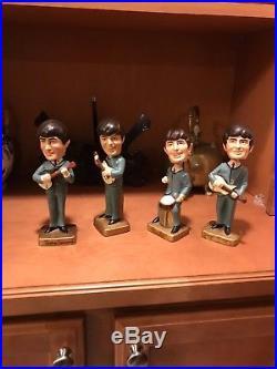 Antique/vintage 1964 Car Mascots Beatles Bobblehead Dolls
