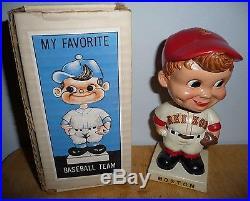 Boston Red Sox 1962 Nodder Bobblehead Vintage Original Box Japan Great Condition