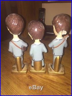 Beatles Bobble Heads Dolls, 8 by Car Mascots 1964 Vintage, Original