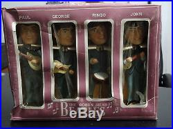Beatles Vintage 1964 Car Mascot Bobblehead Nodders with Original Box RARE