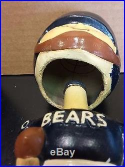 Chciago Bears Vintage 1960's Bobblehead Nodder Square Base NFL Free Ship