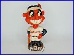 Cleveland Indians Bobblehead vintage chef wahoo original defect C17