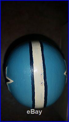 Dallas Cowboys VINTAGE 1960s Green Wood Square Base Bobble Head Powder Blue RARE